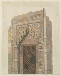 Architectural drawing of a window at Benares